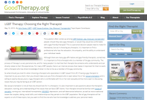 LGBT Therapy: Choosing the Right Therapist
